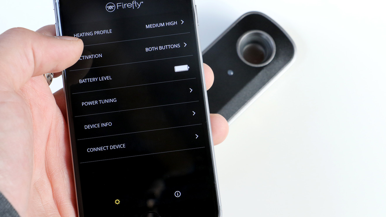 FireFly 2 app settings reviewed by Vape Pen Pro